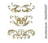 set vintage swirl ornament... | Shutterstock . vector #560290207