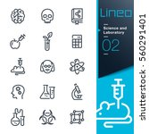 lineo   science and laboratory... | Shutterstock .eps vector #560291401