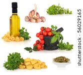 italian food ingredients... | Shutterstock . vector #56029165