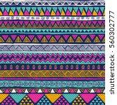 multicolor tribal vector... | Shutterstock .eps vector #560302777