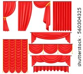 different types of theatrical... | Shutterstock .eps vector #560304325