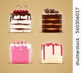 four delicious different cakes | Shutterstock .eps vector #560306017