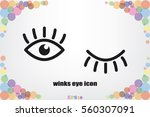 eyes and eyelashes icon vector...   Shutterstock .eps vector #560307091