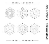 sacred geometry signs. set of... | Shutterstock .eps vector #560307439