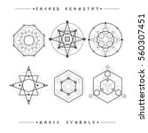 sacred geometry signs. set of... | Shutterstock .eps vector #560307451