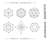sacred geometry signs. set of... | Shutterstock .eps vector #560307475