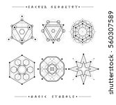sacred geometry signs. set of... | Shutterstock .eps vector #560307589