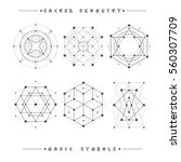 sacred geometry signs. set of...   Shutterstock .eps vector #560307709