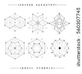 sacred geometry signs. set of... | Shutterstock .eps vector #560307745