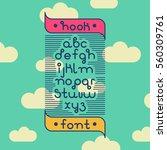 vector linear font   simple... | Shutterstock .eps vector #560309761