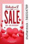 poster of  valentine day in... | Shutterstock .eps vector #560314789