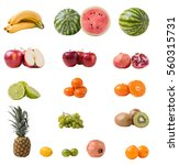 collection of fruits isolated... | Shutterstock . vector #560315731