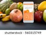 smartphone with app showing the ... | Shutterstock . vector #560315749