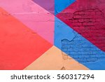 colorful  purple  blue pink and ... | Shutterstock . vector #560317294