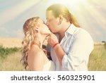 happy couple in love   romantic ... | Shutterstock . vector #560325901