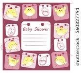 baby shower invitation card...   Shutterstock .eps vector #560327791