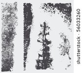 set grunge halftone textures.... | Shutterstock .eps vector #56033260