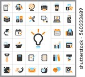 set of office icons. contains... | Shutterstock .eps vector #560333689