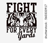 fight tiger typography  tee... | Shutterstock .eps vector #560333917
