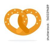 pretzel vector flat material...   Shutterstock .eps vector #560339689
