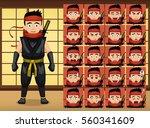 japanese ninja cartoon emotion...   Shutterstock .eps vector #560341609