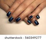 beautiful woman's nails | Shutterstock . vector #560349277