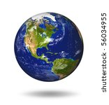 3d model of earth planet. blue... | Shutterstock . vector #56034955