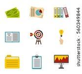 finance icons set. flat... | Shutterstock .eps vector #560349844