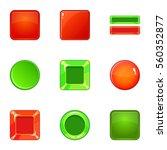 glossy web button icons set....