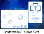 2d medical structure background  | Shutterstock . vector #560354695