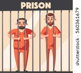 prison with prisoner. character ... | Shutterstock .eps vector #560361679