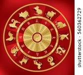 Chinese Zodiac Wheel With...