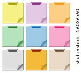 notepad set in assorted colors... | Shutterstock . vector #56036560