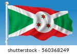 flag of burundi   vector... | Shutterstock .eps vector #560368249
