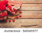 beautiful romantic composition. ... | Shutterstock . vector #560369377