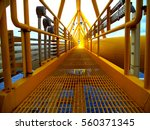 offshore oil and gas central... | Shutterstock . vector #560371345