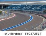 Motor Racing Track. Turning...
