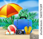 summer set. points. beach.... | Shutterstock .eps vector #560374189