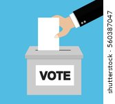 voting concept in flat style | Shutterstock . vector #560387047