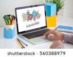 gears and scholarship mechanism ... | Shutterstock . vector #560388979