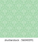 seamless damask wallpaper | Shutterstock . vector #56040391