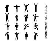 a set of illustrations stick... | Shutterstock .eps vector #560411857