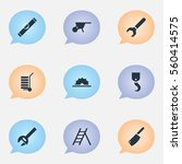 set of 9 tools icons. includes...