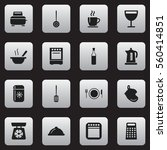 set of 16 restaurant icons....
