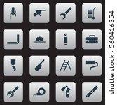set of 16 equipment icons.... | Shutterstock . vector #560416354