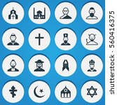 set of 16 religion icons....