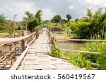 sutongpe wooden bridge at... | Shutterstock . vector #560419567