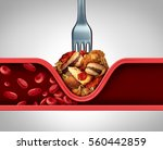 poor circulation food and cause ... | Shutterstock . vector #560442859