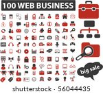 100 web business signs. vector | Shutterstock .eps vector #56044435