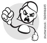 stick figure series emotions  ... | Shutterstock .eps vector #560446645